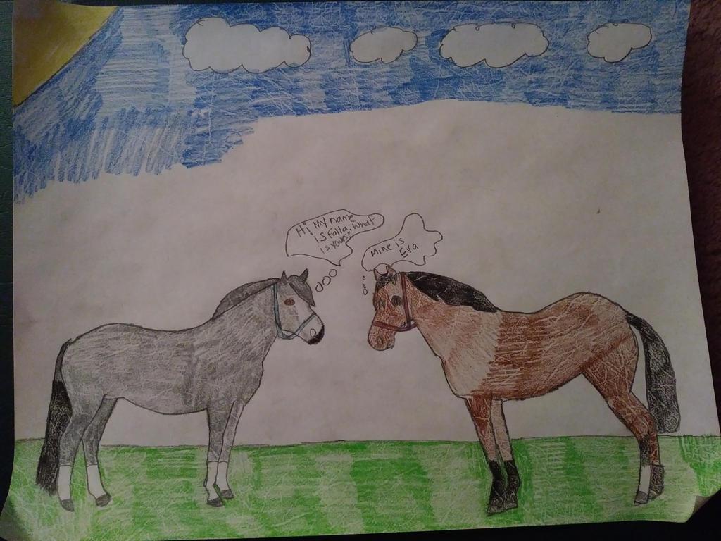 WWMM-Stage 1- Eva's Meeting her Pasture Buddy by CalliesKennel