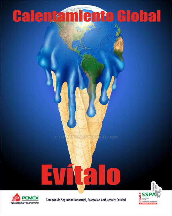 Cartel Calentamiento Global by tolonet