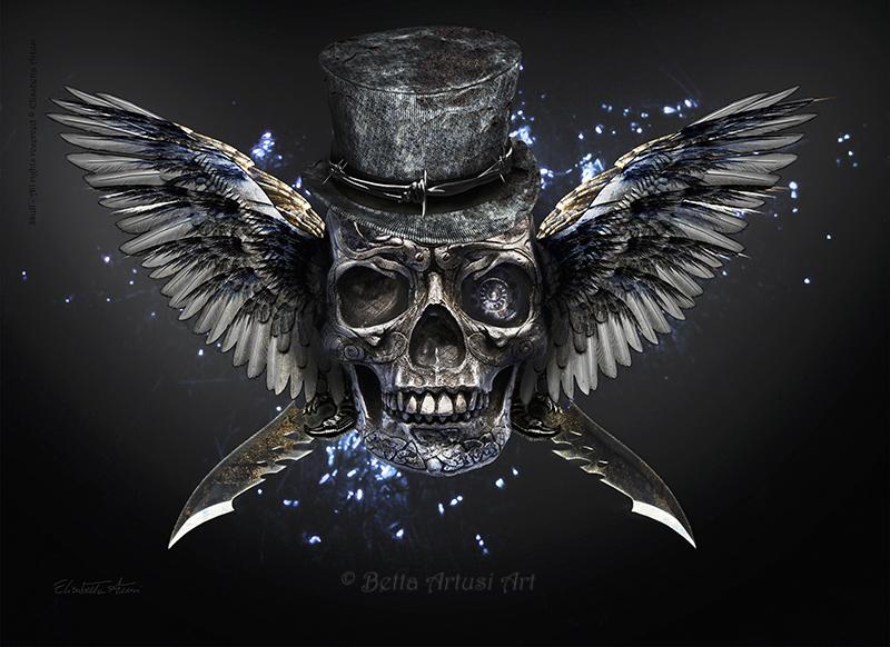 Skull by BettaArtusiArt
