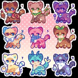 (7/9) Cheap Kitty Adopts! by PeachyBakery