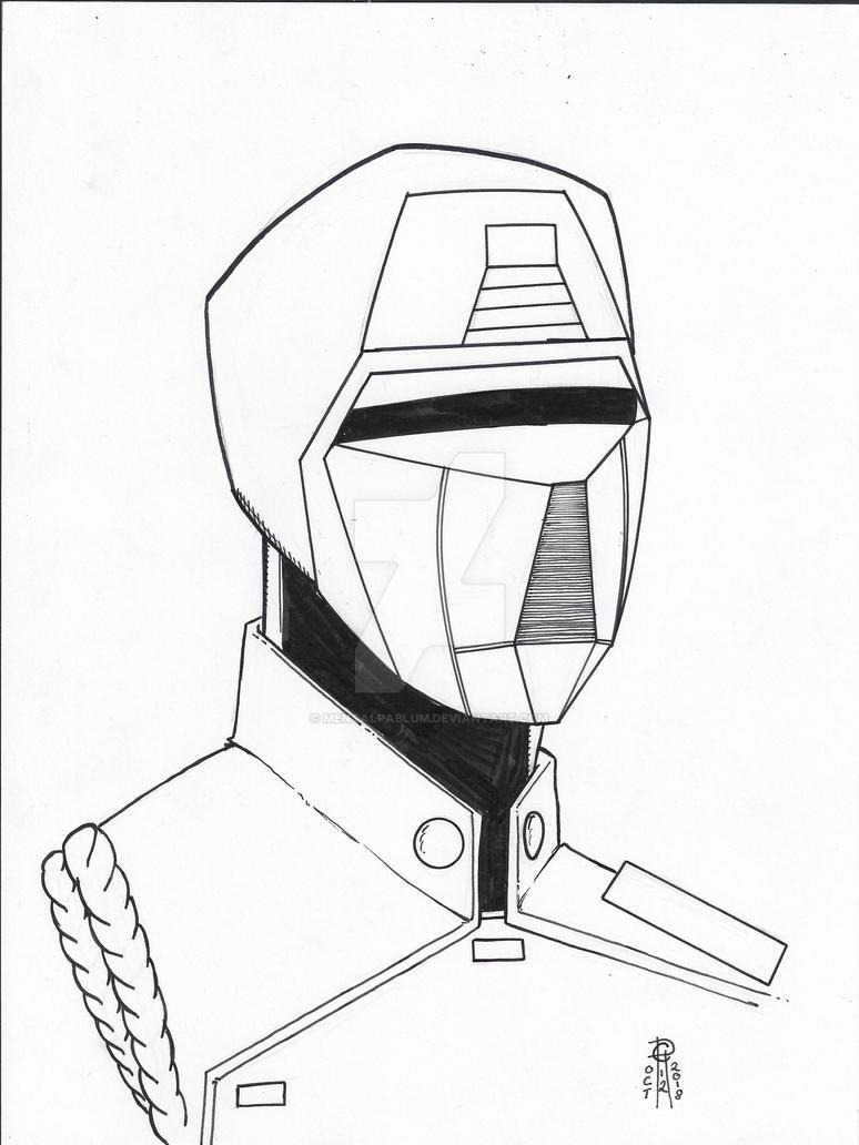 Crimson Guard #Inktober Twelve by MentalPablum