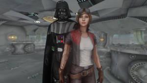 Dr Aphra and Darth Vader