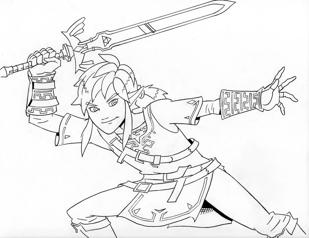 This is an image of Nerdy breath of the wild coloring pages