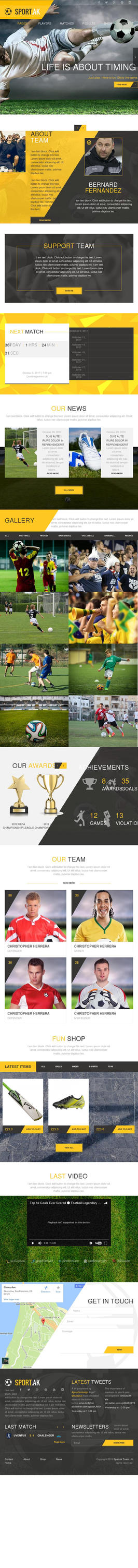Sport WordPress Theme for Football, Hockey, Basket by AllResourcess