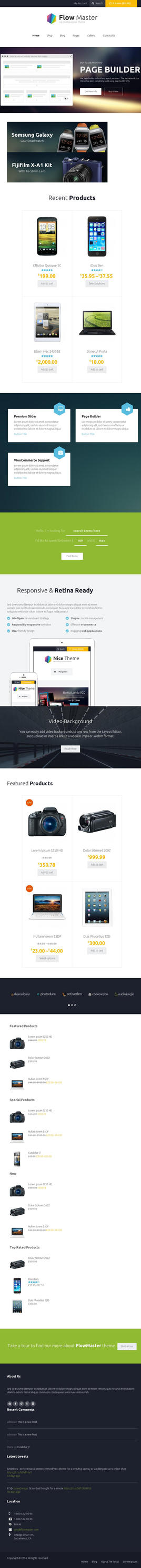 FlowMaster - Electronics Shop WooCommerce Theme by AllResourcess