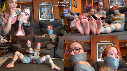 The girls are tied up and gagged by a fugitive! by erokenny