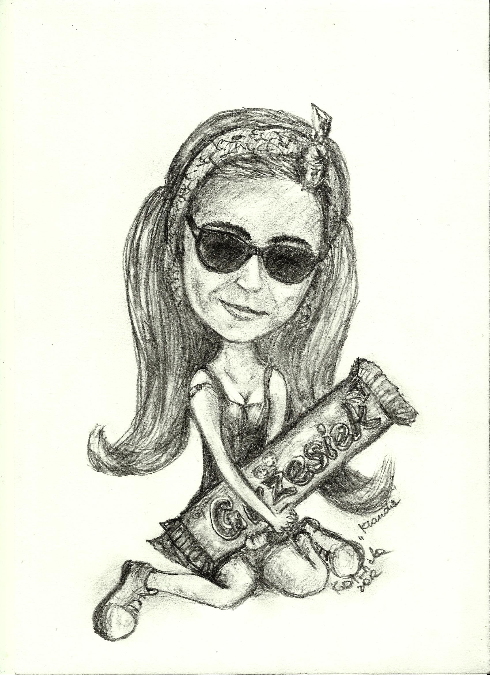 Klaudia's caricature by Kotwinka