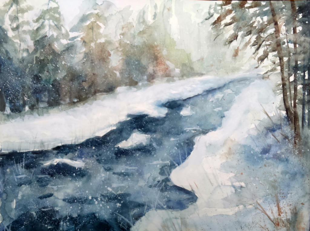 Winter River by Kotwinka