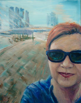Painted selfie from Rotterdam