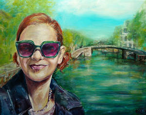Painted selfie from Amsterdam