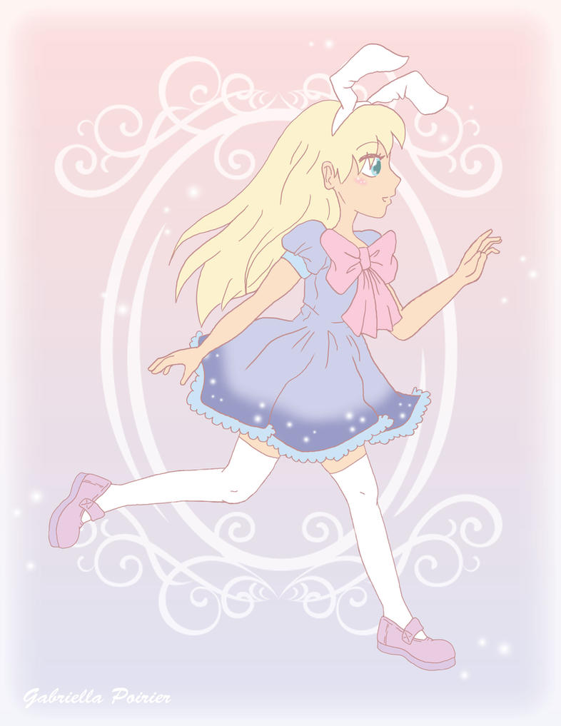 Pastel Bunny Girl by Buuru