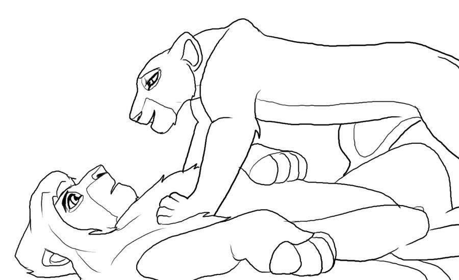 Lion King Coloring Page Nala And Simba