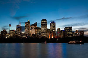 Sydney harbour at night 2 by deviantjohnny99