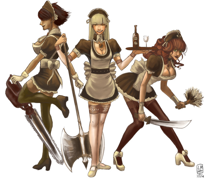 French Maid Zombies by Larbesta