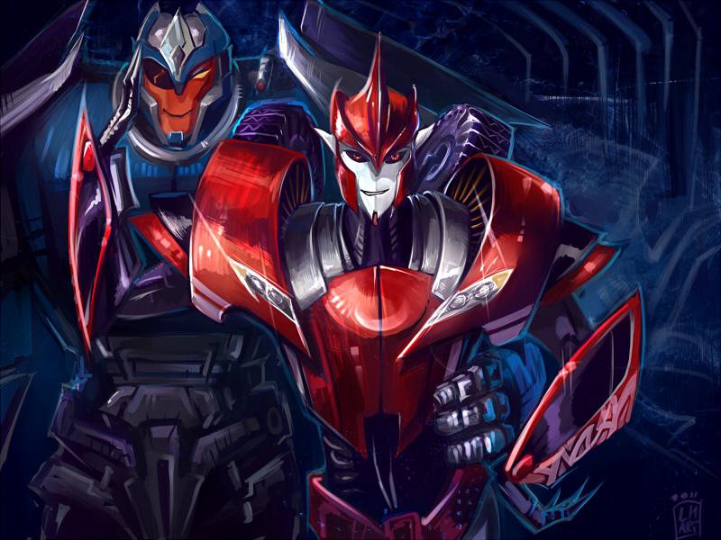[Pro Art et Fan Art] Artistes à découvrir: Séries Animé Transformers, Films Transformers et non TF - Page 5 Tfp_you_see_them_rollin_by_larbesta-d4cd3el