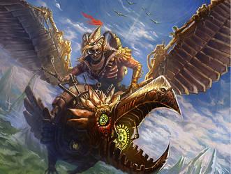 Bronze Raven by Larbesta
