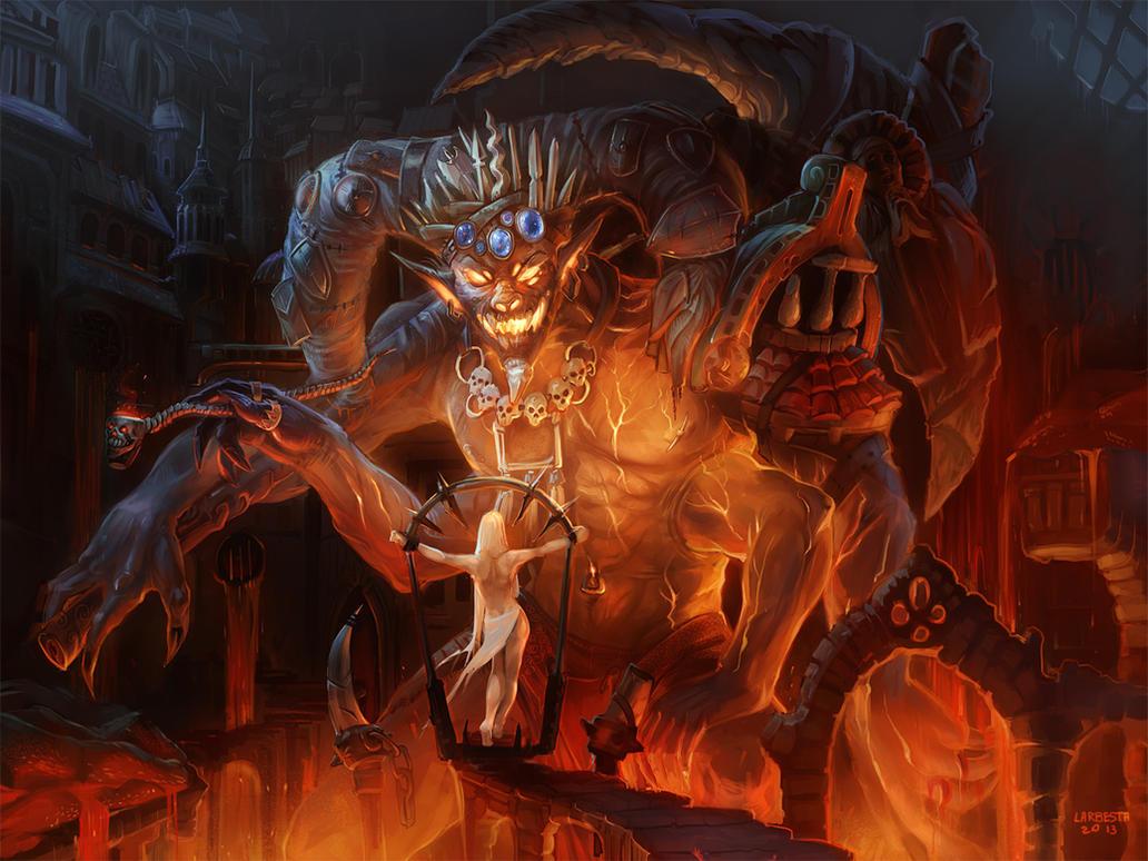 Opal demon by Larbesta