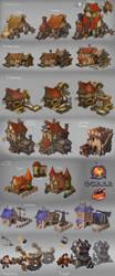 Siege - buildings by Larbesta