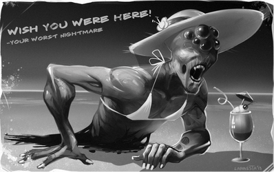 nightmare greetings! by Larbesta