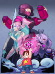 Steven and the Robot Gems!