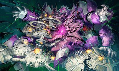 Commission: Cosmic Devourer by Larbesta