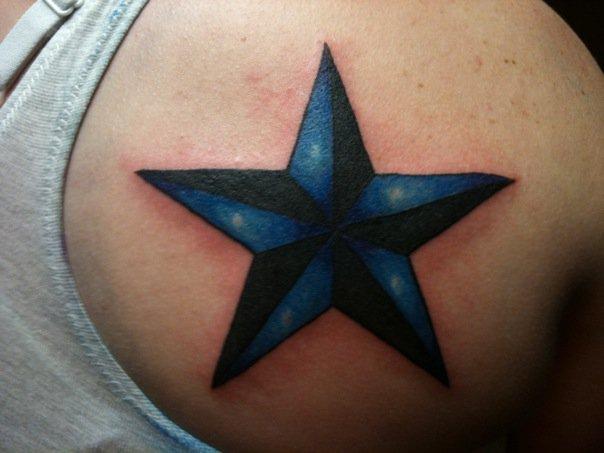Color Fade Nautical Star