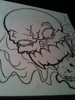 Smoke Mouth Skull