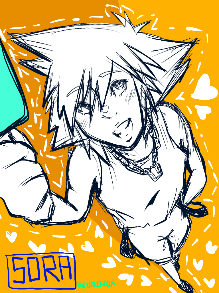 Kingdom Hearts - Casual Sora by fumikoon