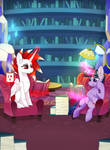 Reading Time with Ryoku and Twilight Commission