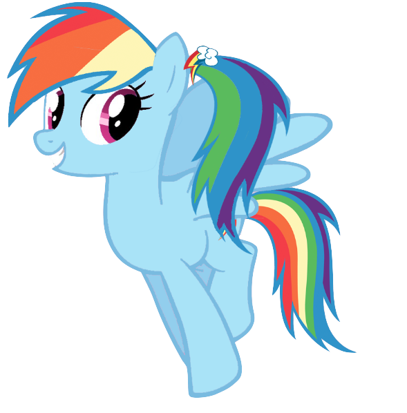 Mlp Rainbow Dash With A Ponytail By Winxflorabloomroxy On Deviantart