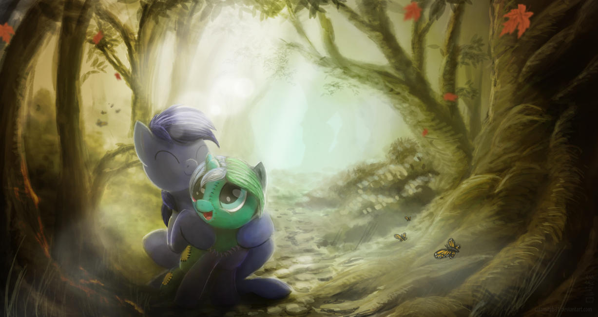 Don't wander alone in the Everfree by WitherMane