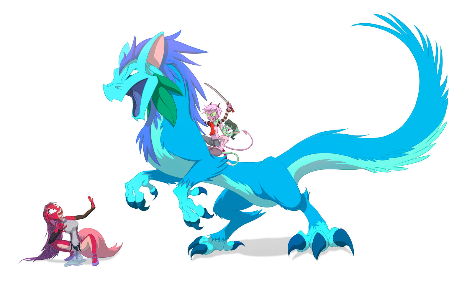 Riding Flowers and Slaying the Corrupt by BernardDK
