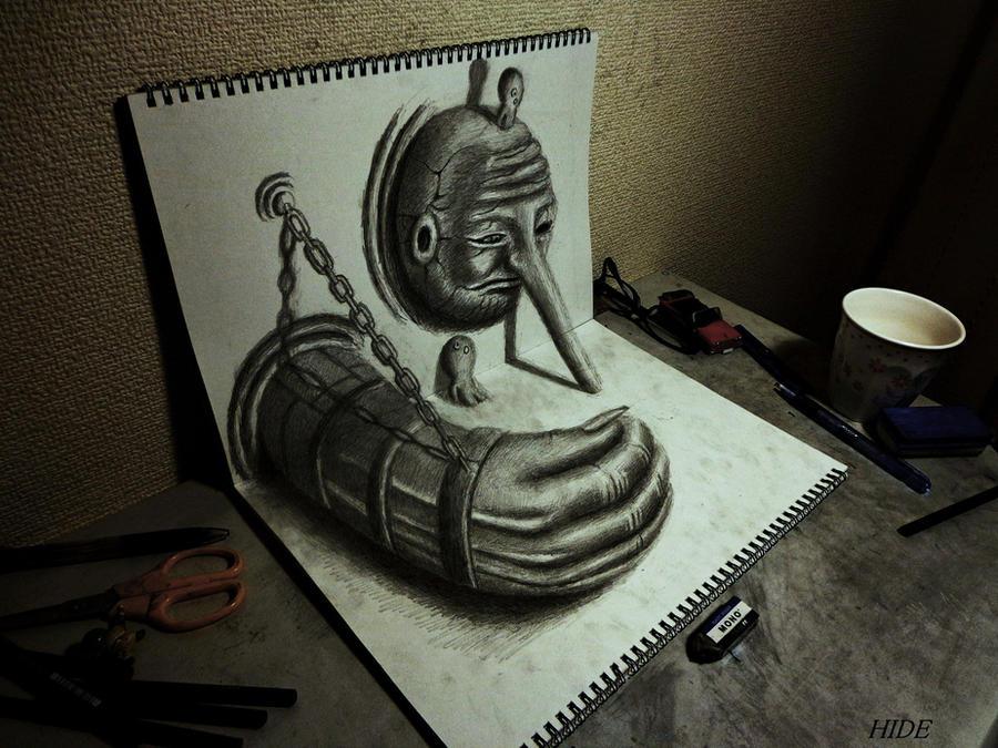 3D Drawing - Guardian deity