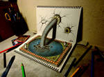 3D Drawing - Fountain of Youth