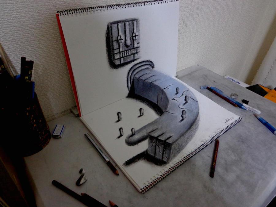 Originals for sale - 3D Drawing - Guidance by NAGAIHIDEYUKI
