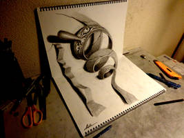 3D Drawing - Swirling monster by NAGAIHIDEYUKI