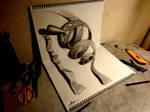 3D Drawing - Swirling monster by NAGAIHIDEYUKI