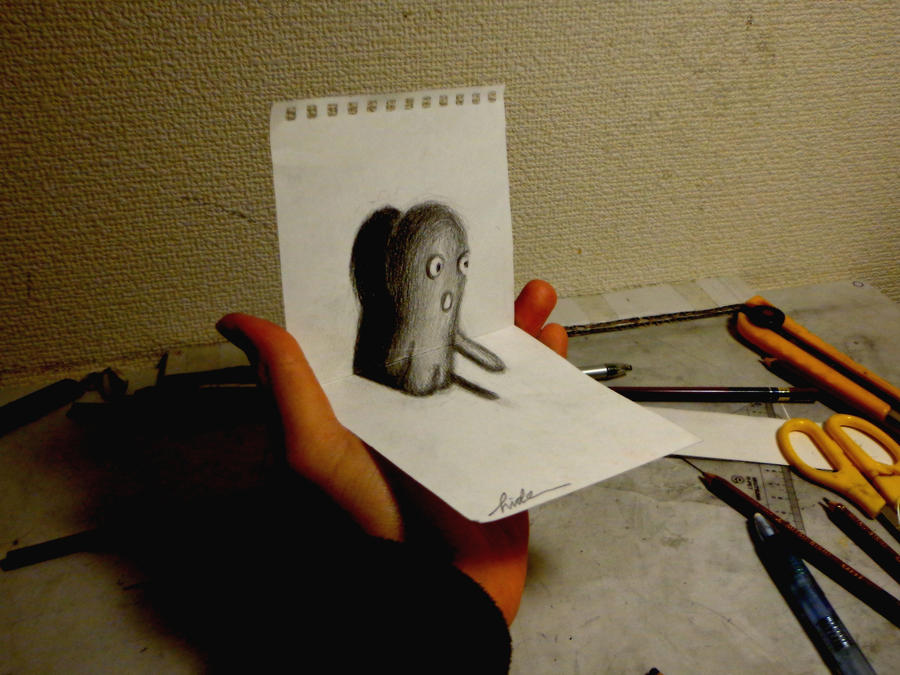3D Drawing - Small 3D Art by NAGAIHIDEYUKI