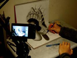 3D Drawing - Speed Drawing Video by NAGAIHIDEYUKI