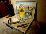 3D Drawing - Beer Cafe