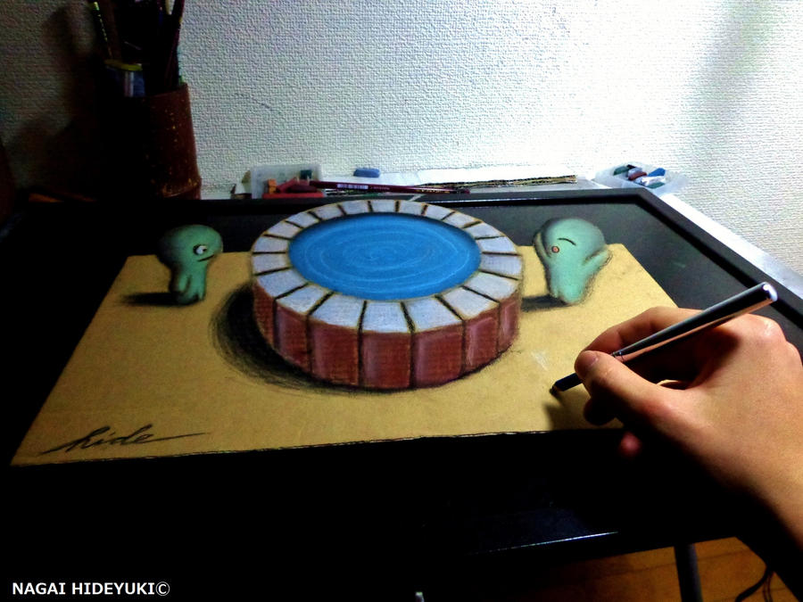 3D Drawing - A wonderful well by NAGAIHIDEYUKI