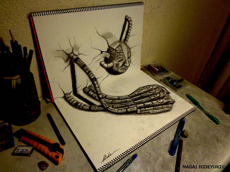 3D Drawing - Machine hand