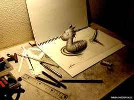 3D Drawing - Nessie by NAGAIHIDEYUKI