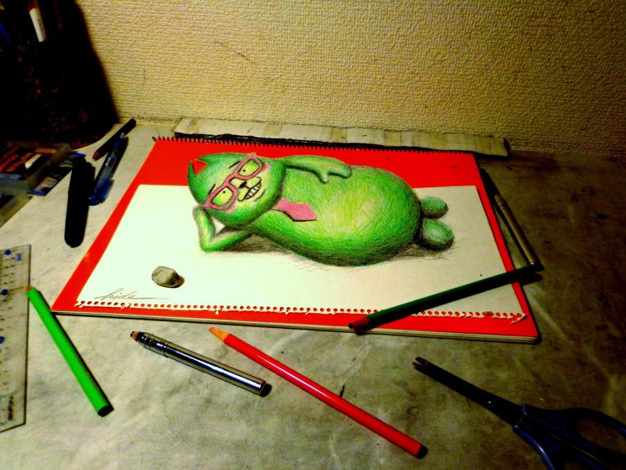 3D Drawing - Agerun (Character of fujiTV) by NAGAIHIDEYUKI