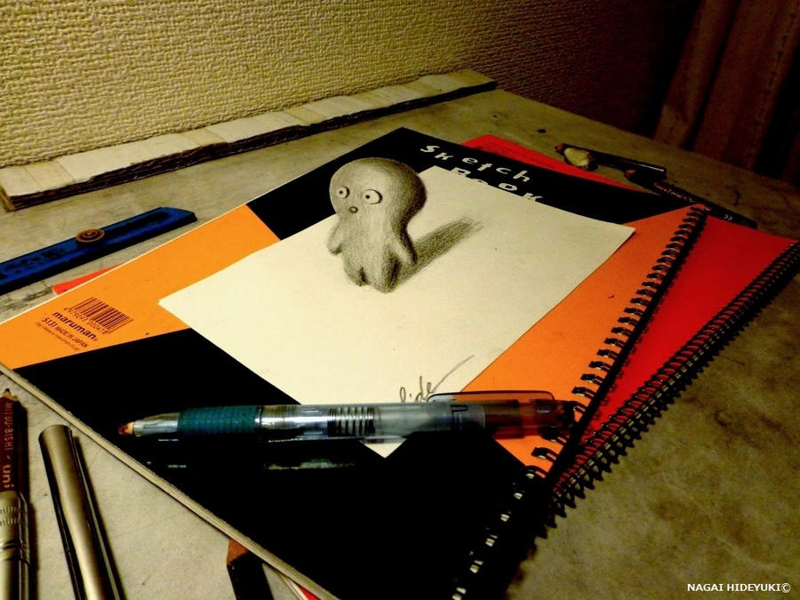 3D Drawing - Little creatures by NAGAIHIDEYUKI