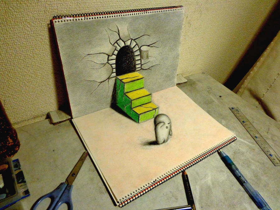 3D Drawing - Escape by NAGAIHIDEYUKI on DeviantArt