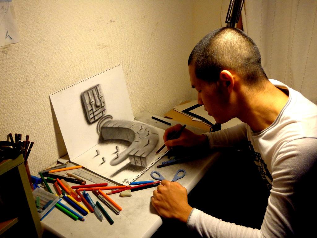 3D Drawing - deviantID by NAGAIHIDEYUKI