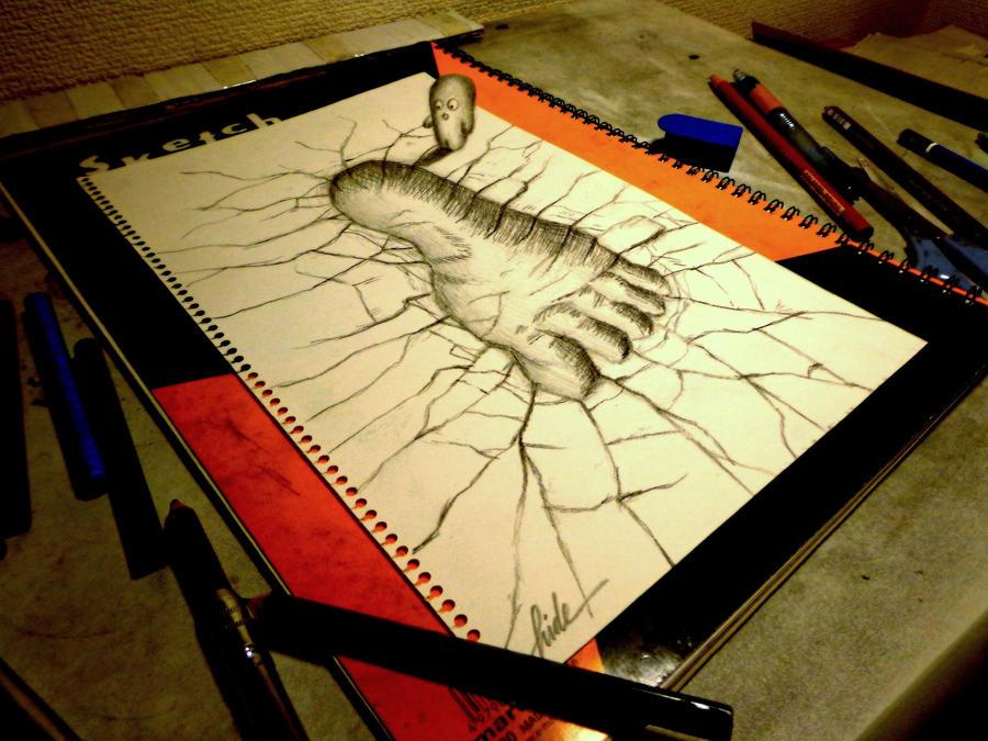 3D Drawing - Footprint by NAGAIHIDEYUKI