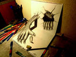 3D Drawing - Monster that emerged
