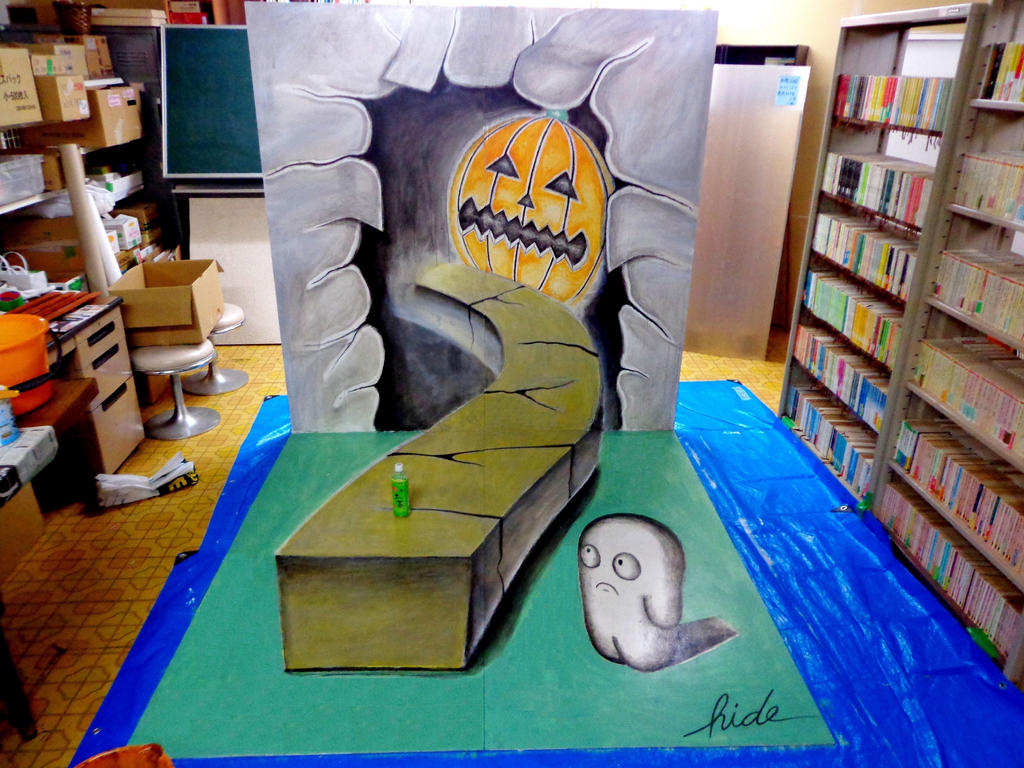 3D Painting - HAPPY HALLOWEEN by NAGAIHIDEYUKI